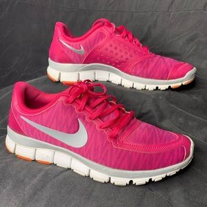 Nike free 5.0 women's size 9.5 pink running shoes